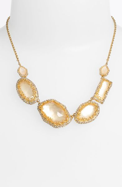 Alexis Bittar Elements Stone Link Necklace in Gold (gold/ multi)