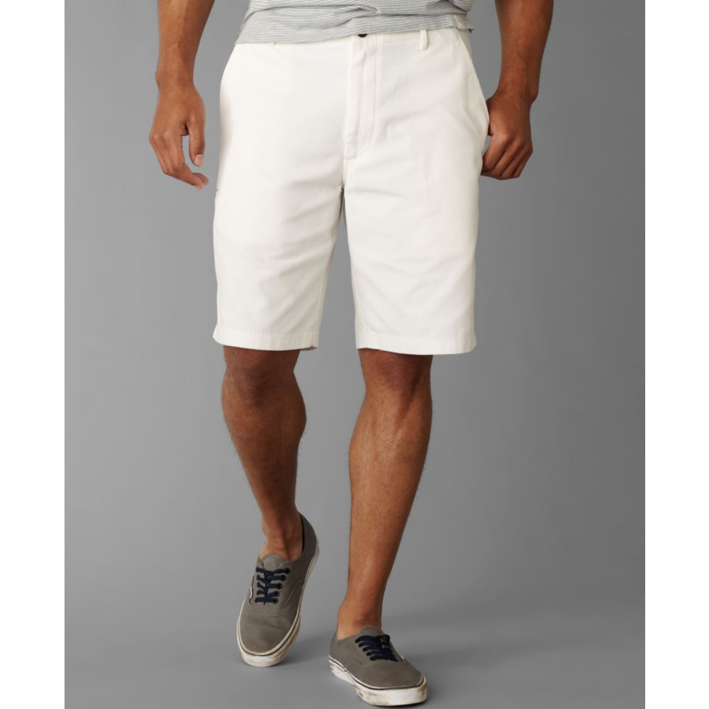 Dockers D3 Flat Front Shorts in White for Men | Lyst