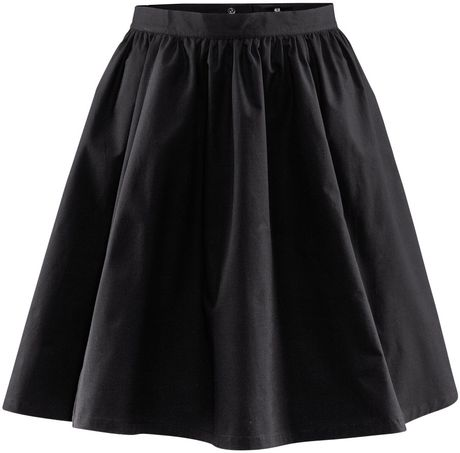 Hm black pleated skirt pictures