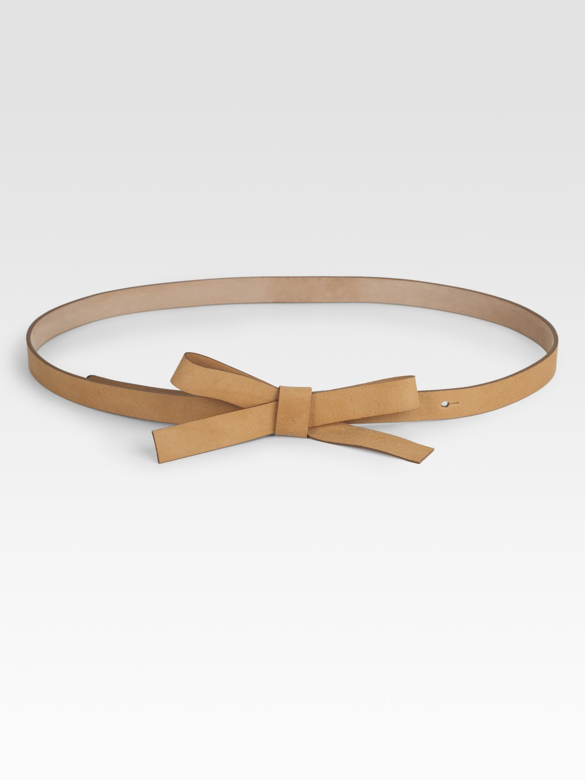 kate spade new york leather bow belt in brown lyst