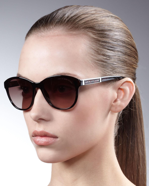 1168f5de4d30 Marc By Marc Jacobs Retro Round Sunglasses in Black - Lyst