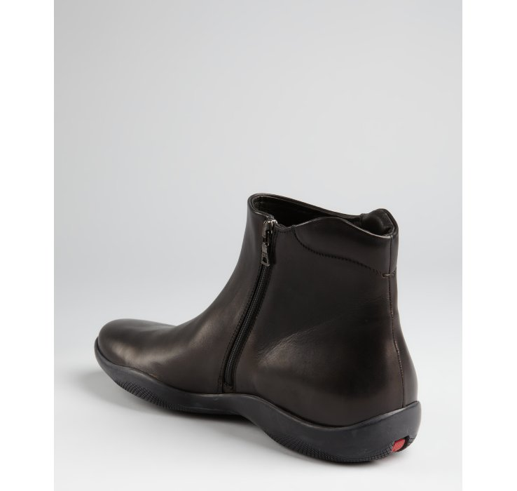 Lyst Prada Prada Sport Black Leather Side Zip Ankle
