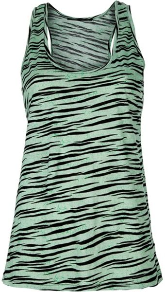 Proenza Schouler Tiger Print Vest Top in Green (tiger) - Lyst