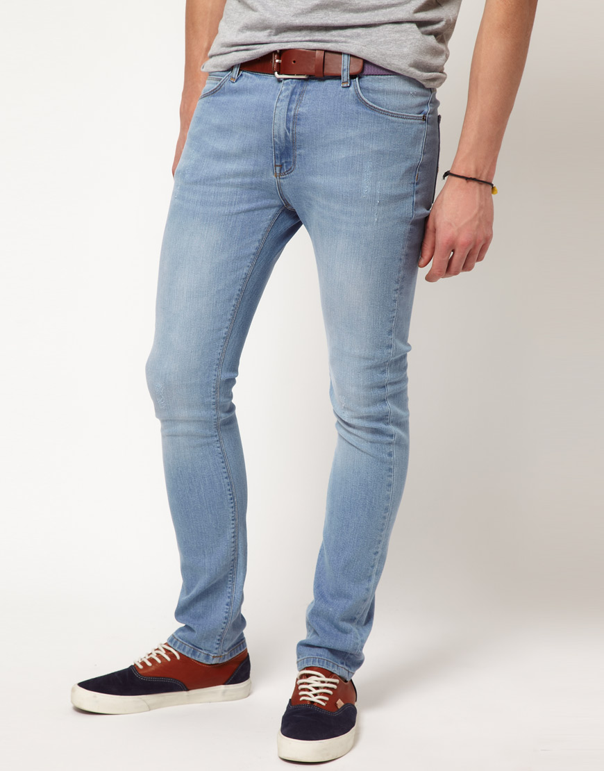 Gallery - Asos Super Skinny Blue Jean In Blue For Men Lyst