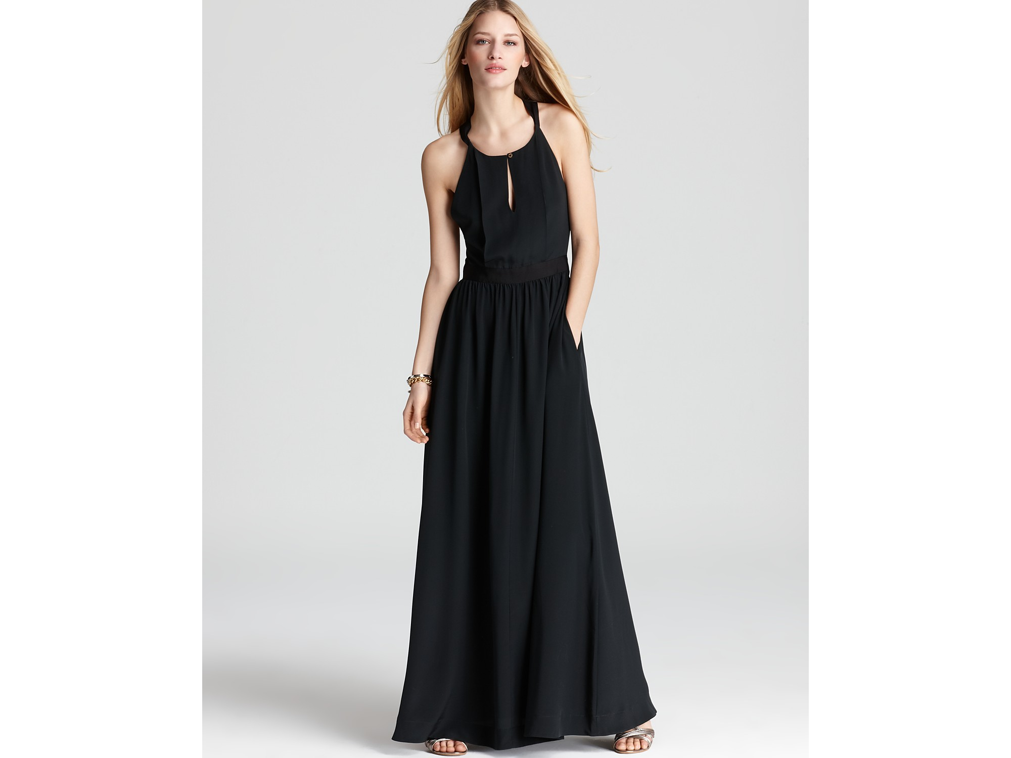700036a5a7e8e Juicy Couture Black Easy Summer Silk Maxi Dress