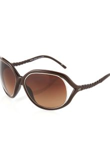 Nina Ricci Twistedarm Sunglasses Smoked Gray - Lyst