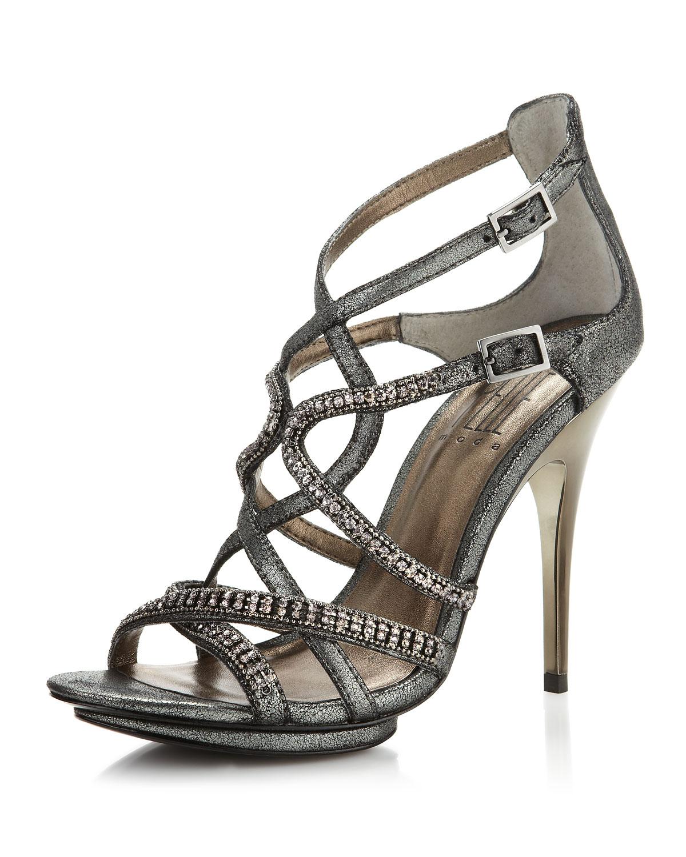 Lyst Pelle Moda Posey Strappy Sandal Gunmetal In Metallic