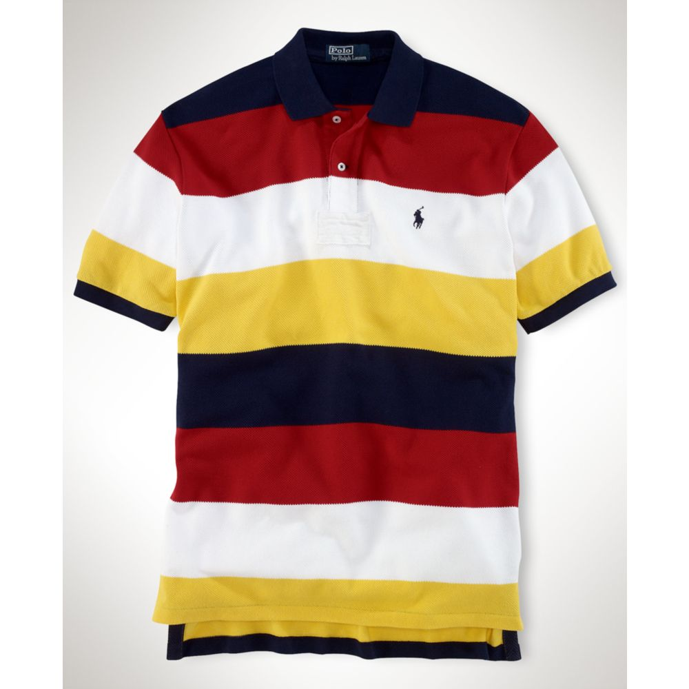 Ralph Lauren Big And Tall Striped Polo Shirt In Multicolor