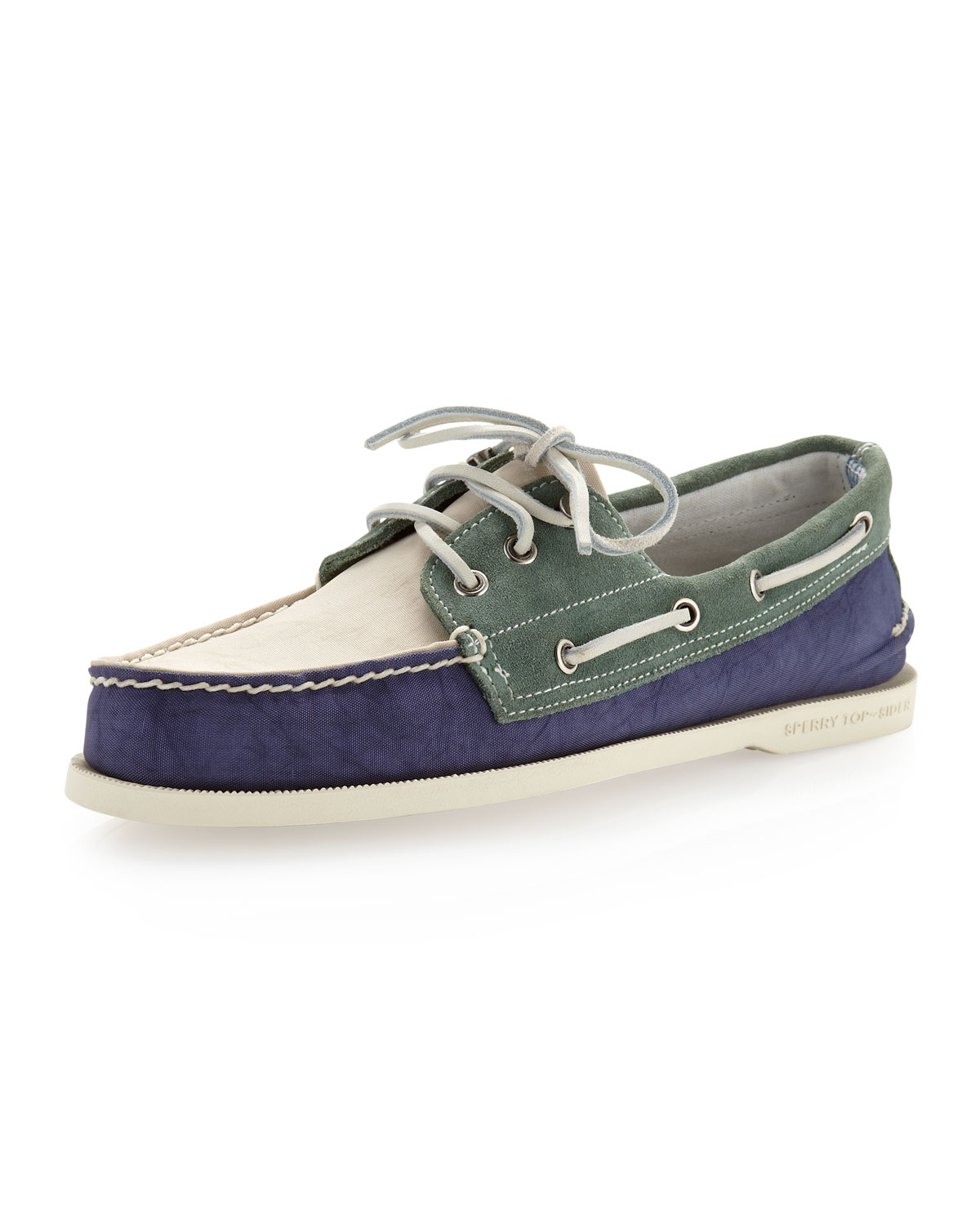Sperry Top Sider Colorblock Boat Shoe In Blue For Men Lyst