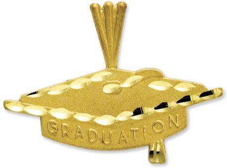 Eci Graduation Cap Charm in Gold