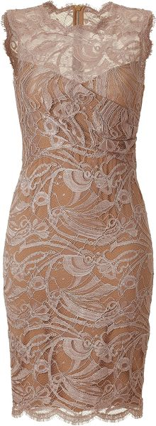 Emilio Pucci Pearl Lace Dress in Pink (pearl)