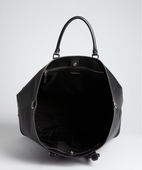 Prada Black Saffiano Leather Large Tote