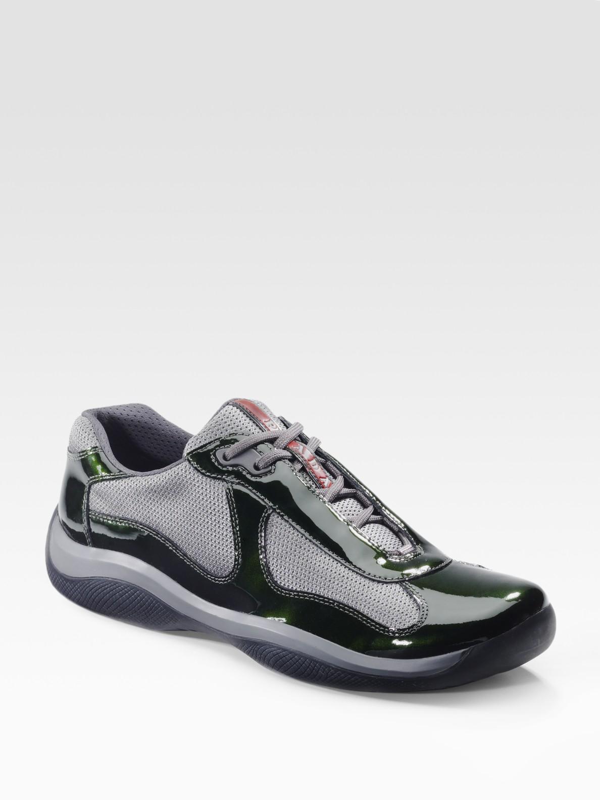 prada americas cup manhattan sport sneakers in gray for