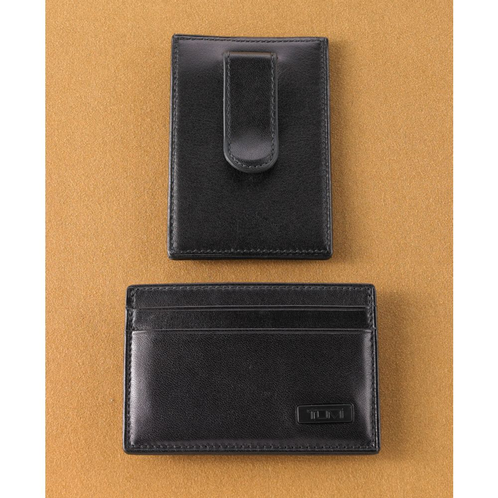 new concept fda19 65ca0 Tumi Black Money Clip Card Case for men