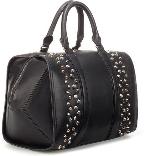 Zara Mini Bowling Bag Zara Studded Bowling Bag