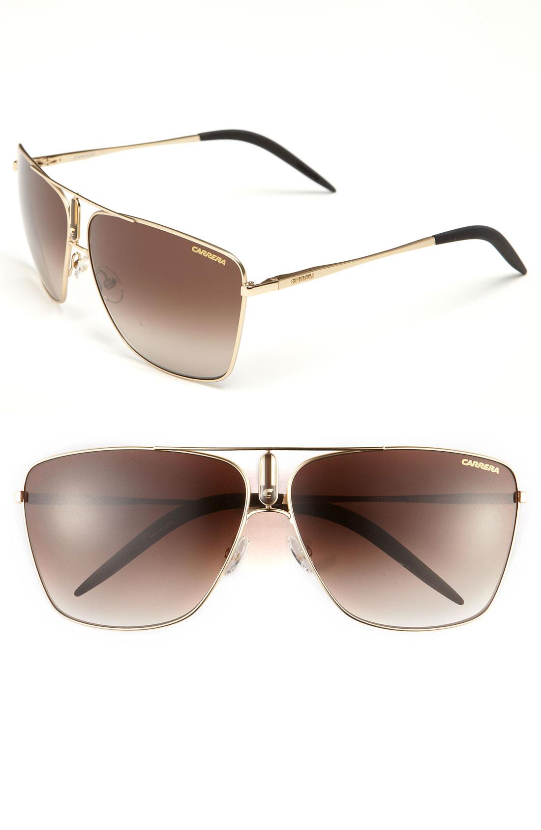 Carrera Eyewear Aviator Sunglasses in Brown for Men (gold ...