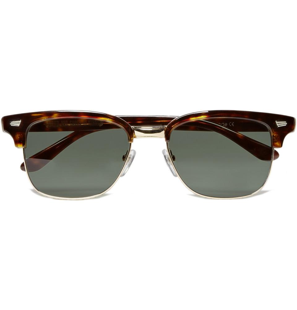 Half Frame Glasses Brown : Cutler & Gross Tortoiseshell Half Frame Acetate Sunglasses ...