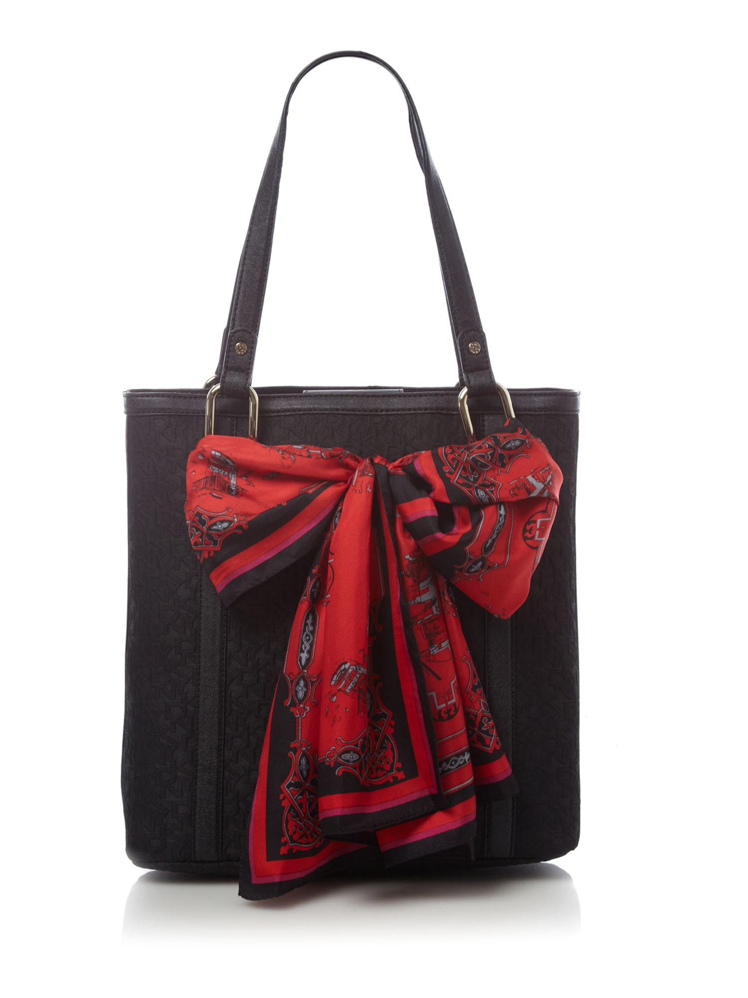 dkny exclusive tc ns tote with scarf bag in black lyst