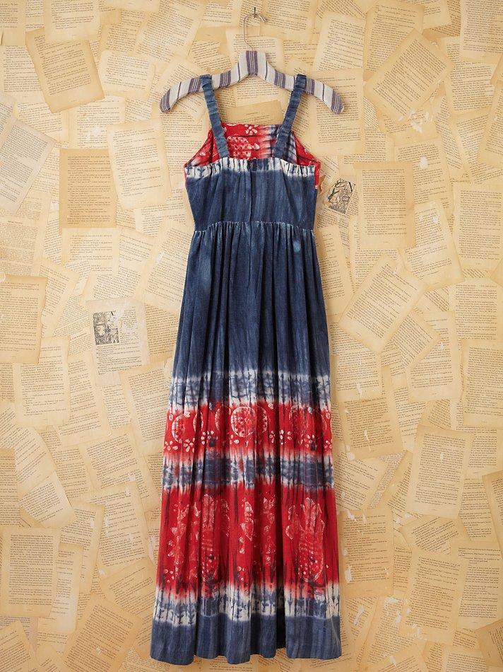 cd897c30ca Lyst - Free People Vintage Patriotic Tie Dye Maxi Dress in Blue