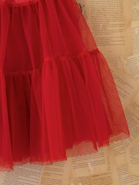 Free People Vintage Red Tulle Slip Skirt In Red Lyst