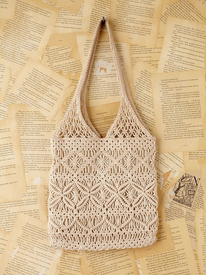 Lyst Free People Vintage Macrame Handbag In Natural