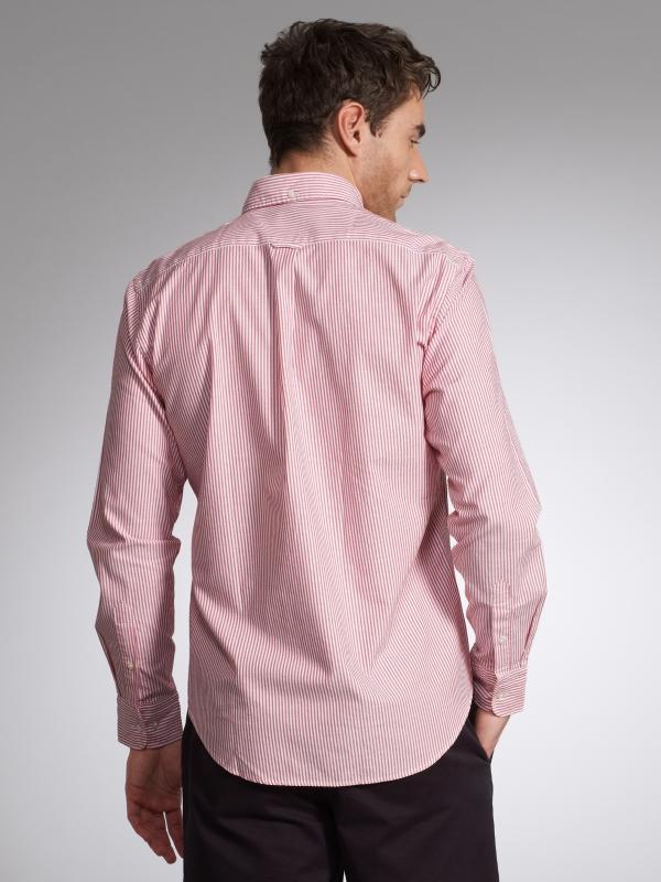 GANT Archive Banker Stripe Shirt Red in Pink for Men