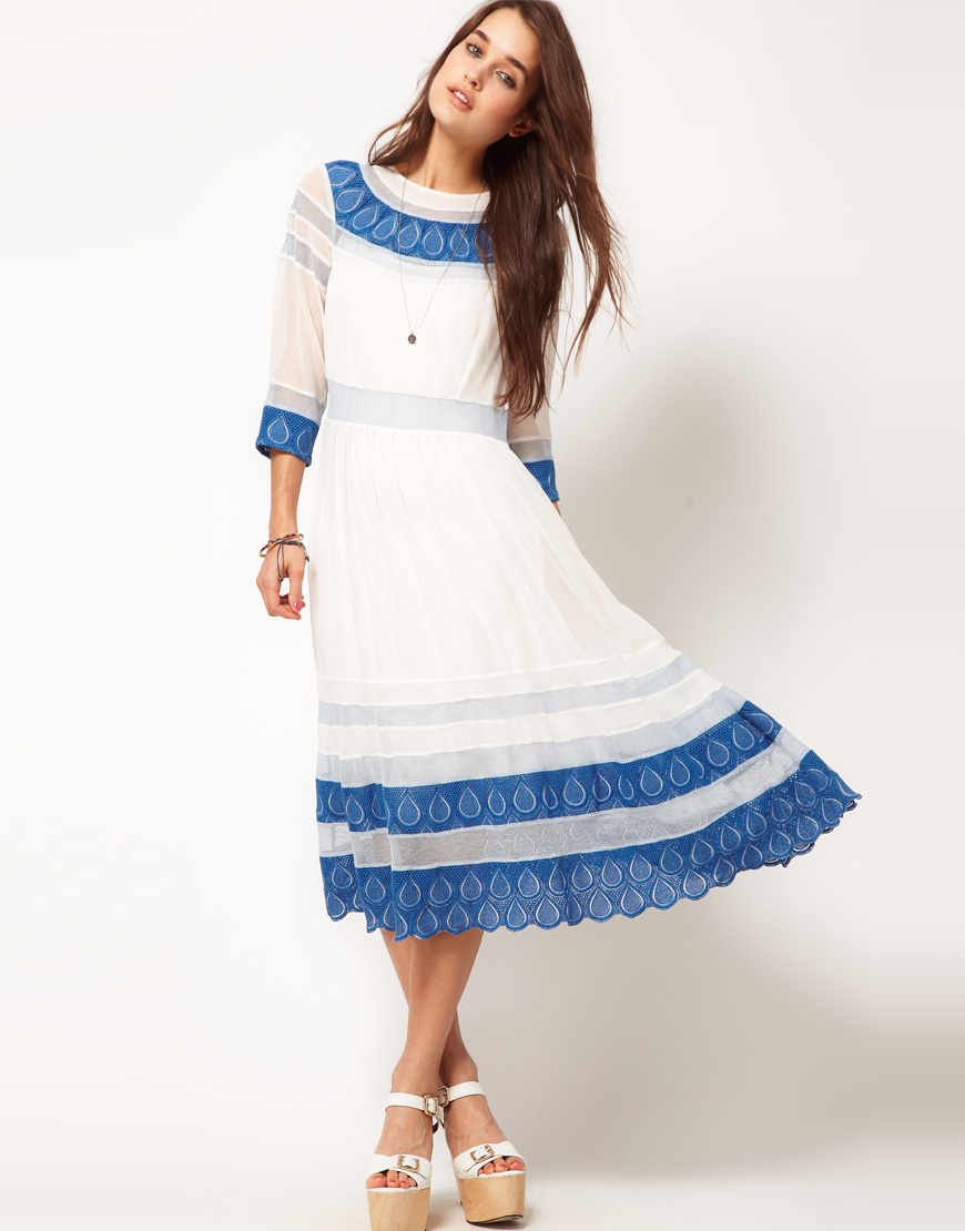 Blue and white dress asos