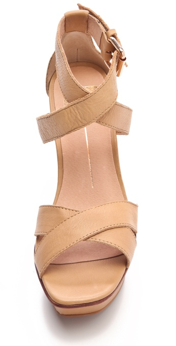 Dolce Vita Synthetic Pais Wooden Wedge Sandals in Nude