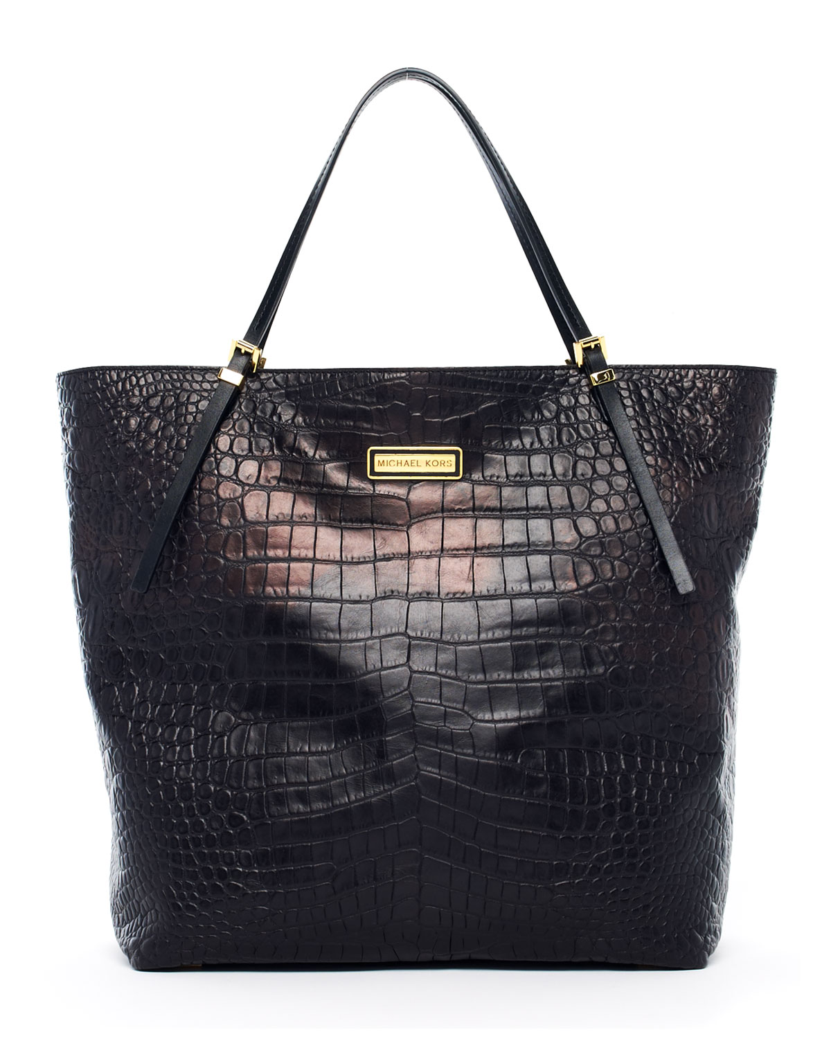 Michael Kors Gia Large Slouchy Tote Black In Animal Black