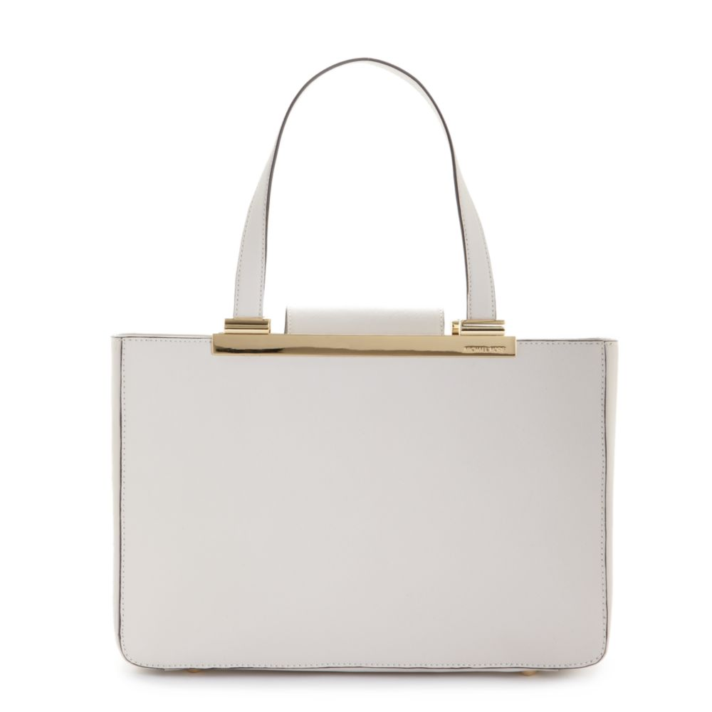 c7f8812ad9ccf4 Michael Kors Tilda Saffiano Leather Large Tote in White - Lyst