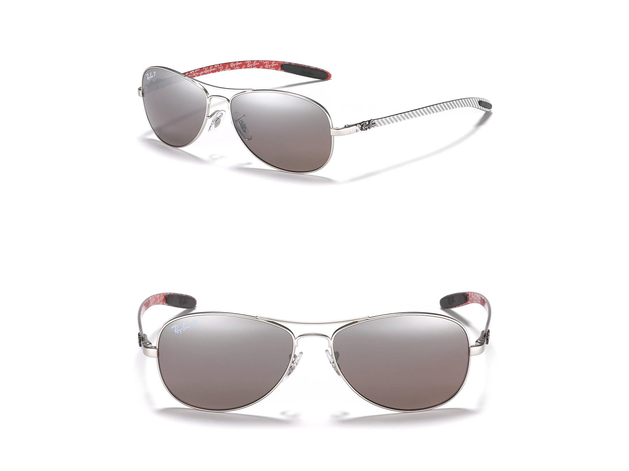 Ray-Ban Tech Aviator Polarized Sunglasses in Metallic for