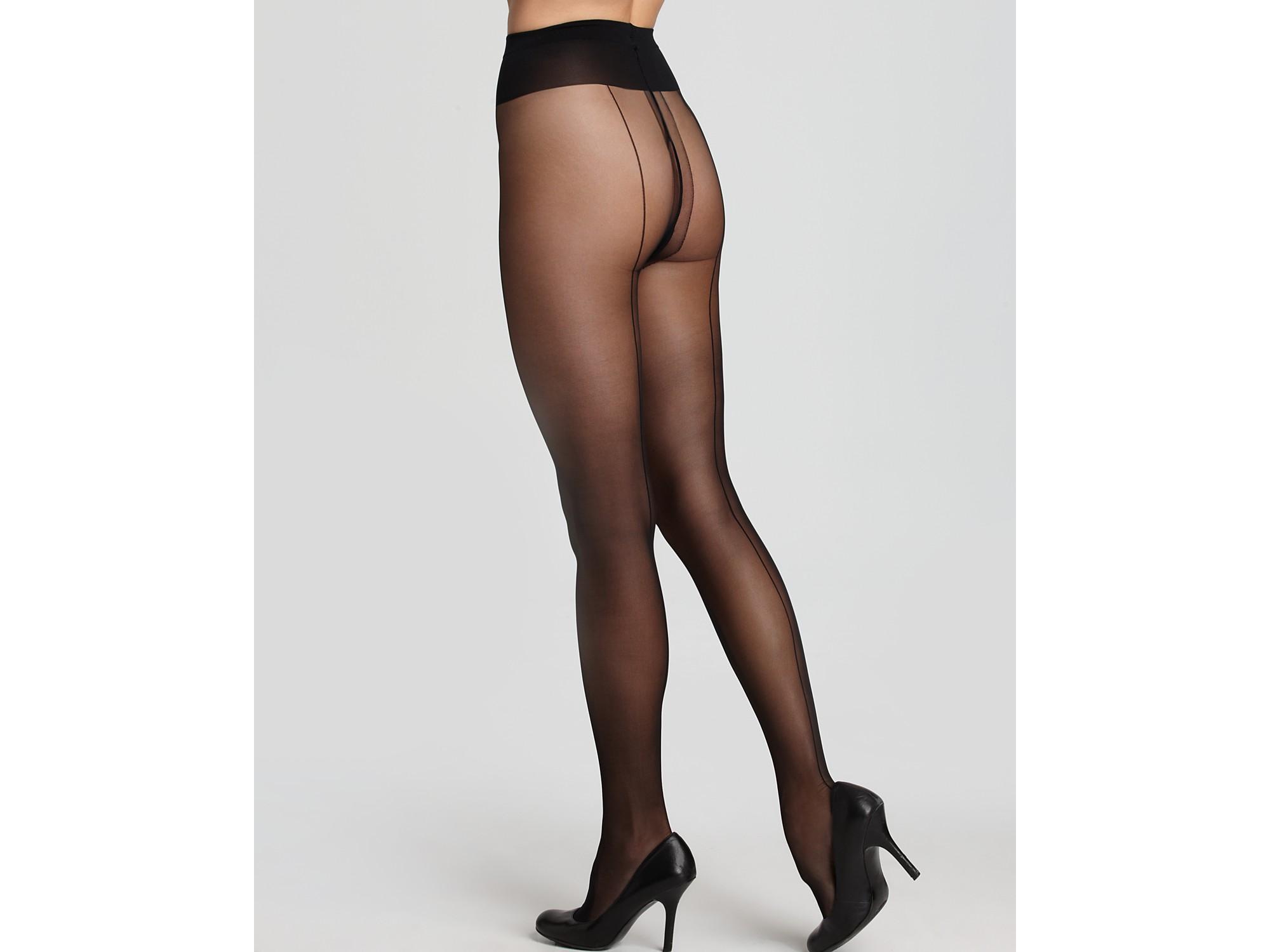 pantyhose with seam