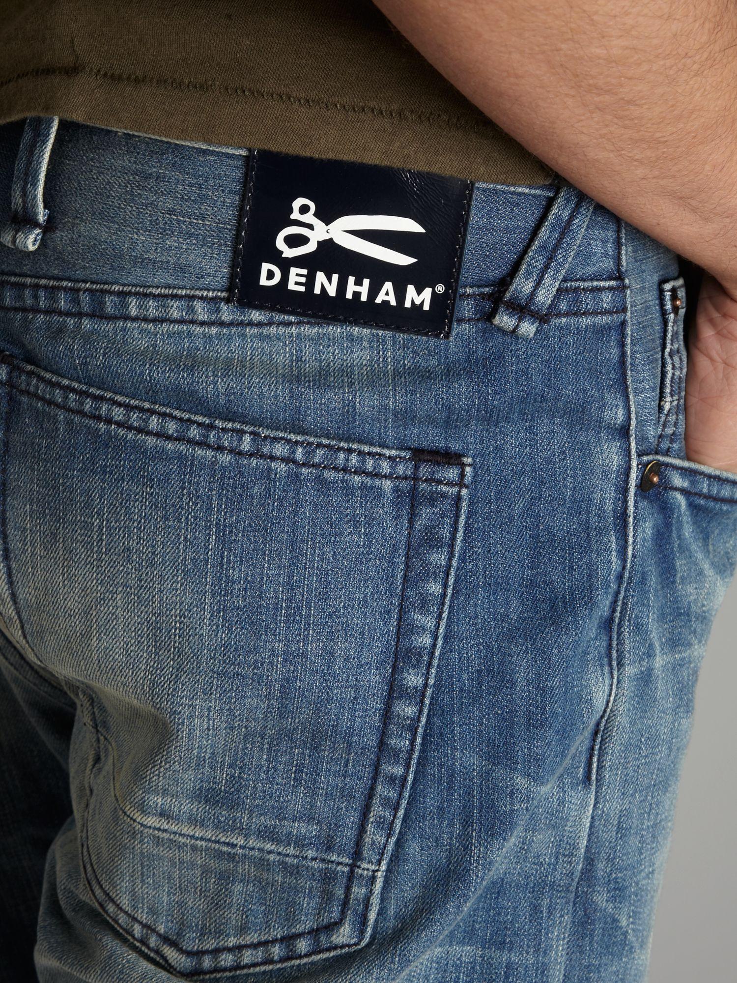 Denham Tapered Light Wash Jeans in Denim Light Wash (Blue) for Men