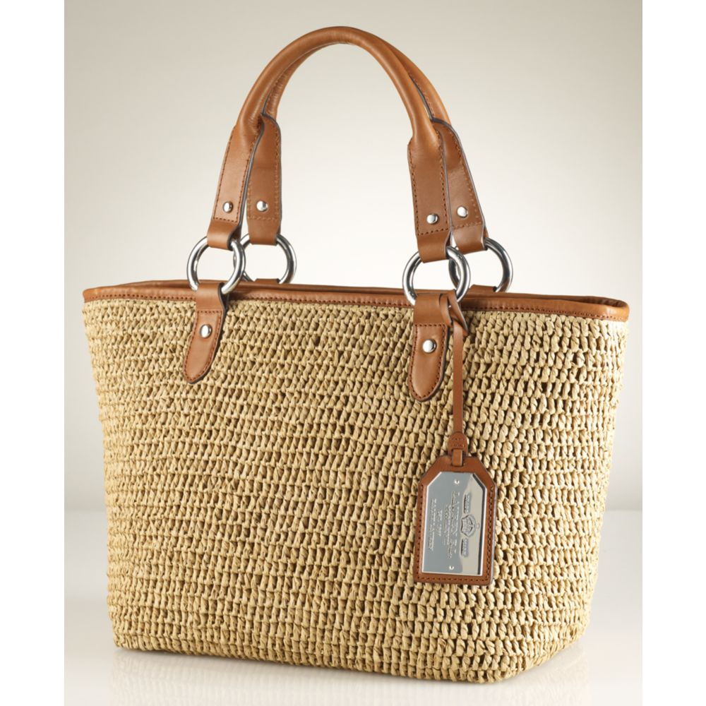 a621d3b65a Lyst - Lauren by Ralph Lauren Claridge Classic Straw Tote in Natural