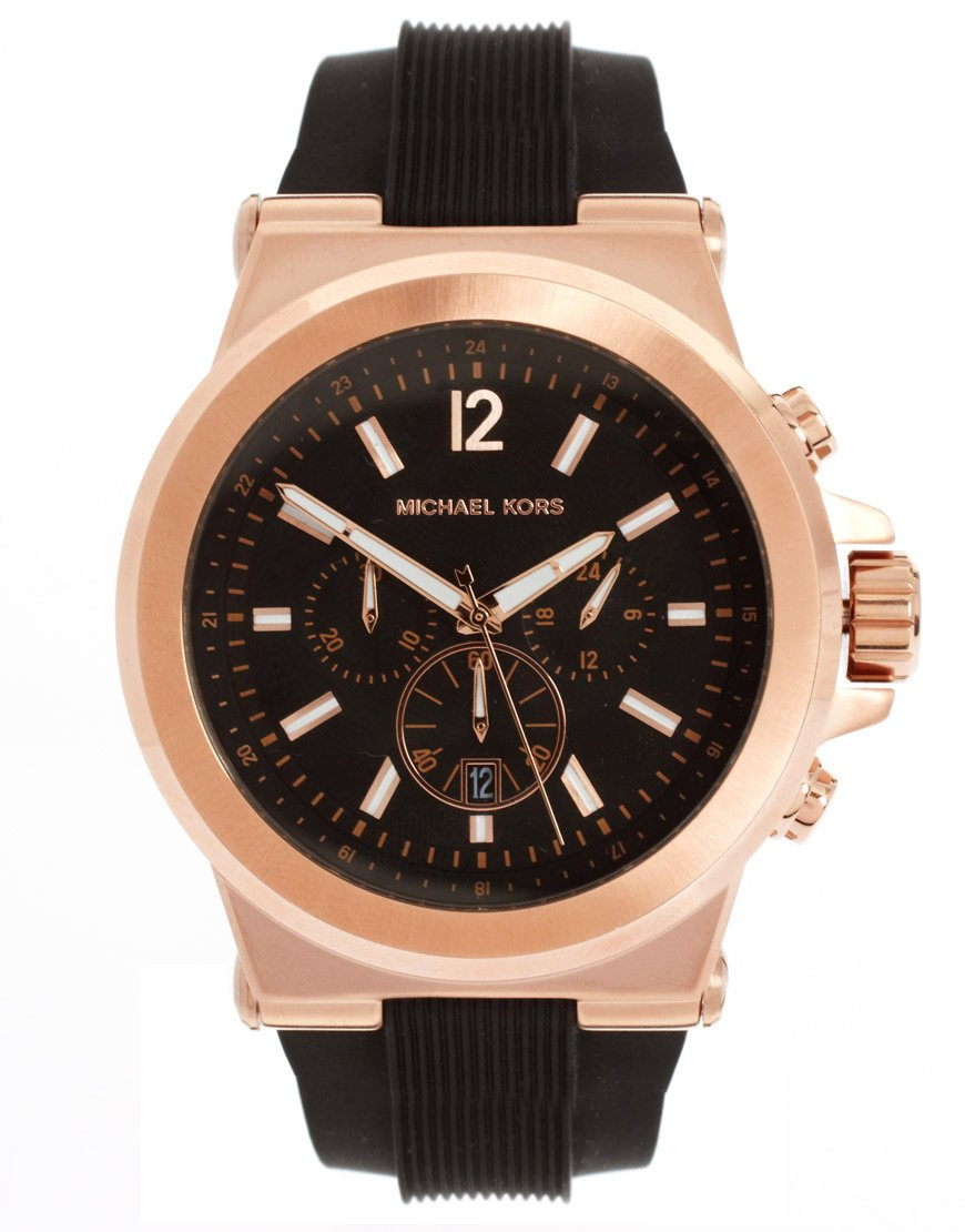 Michael Kors Mk8184 Oversized Dylan Silicone Chronograph. Pure Diamond. Princess Cut Pendant. Wildlife Bracelet. 18k Gold Medallion. Carnival Beads. Two Tone Bands. Chalcedony Necklace. Mens Big Watches