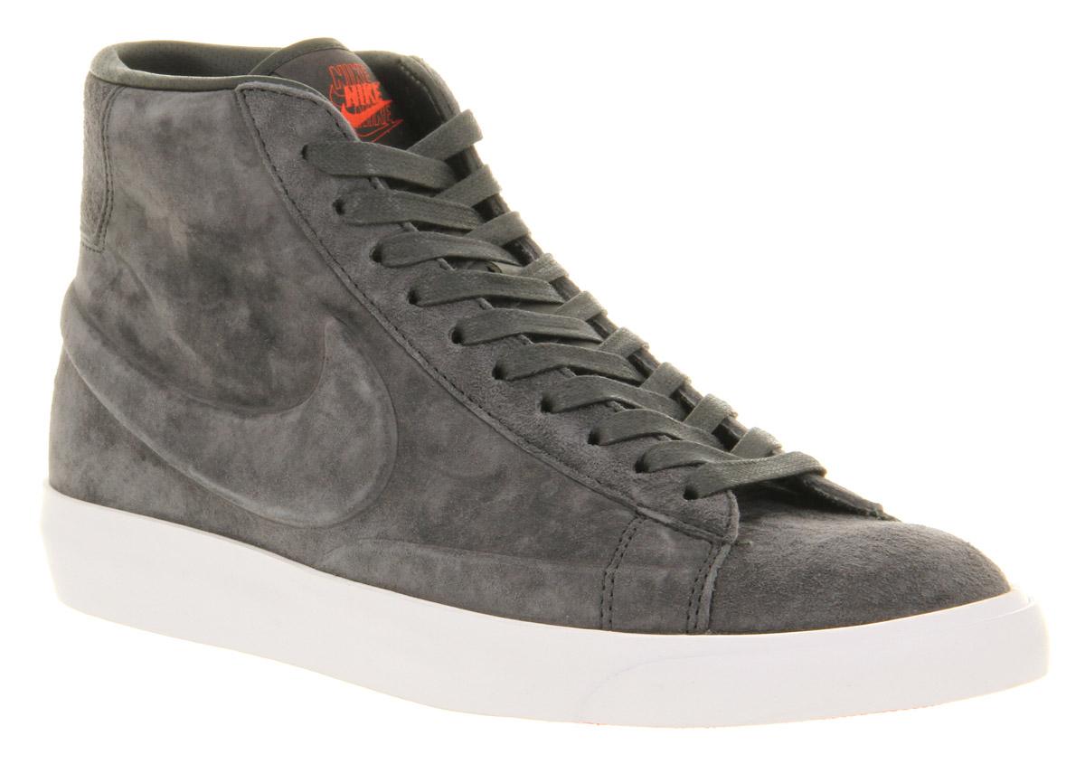 Nike Blazer Mid Anth Nubuck Vt in Gray for Men - Lyst