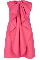 Valentino Bow Detail Strapless Dress