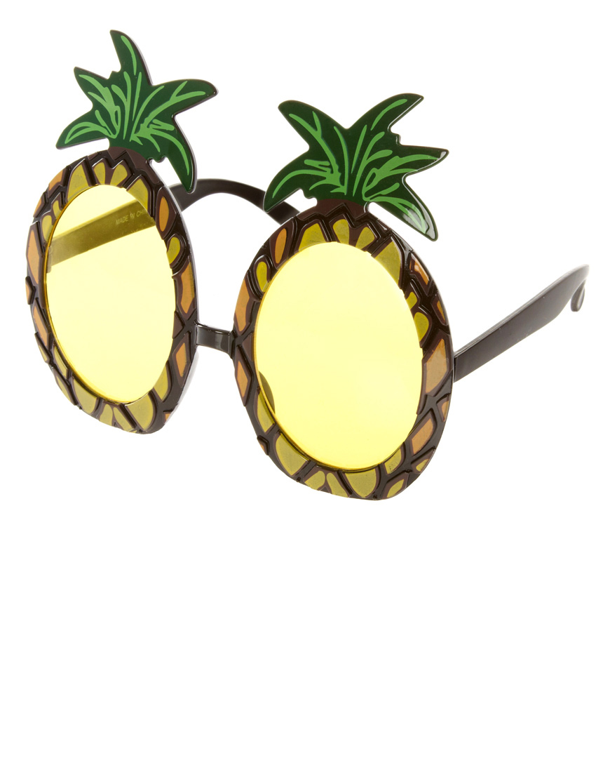 Pineapple Sunglasses  asos pineapple sunglasses in yellow lyst