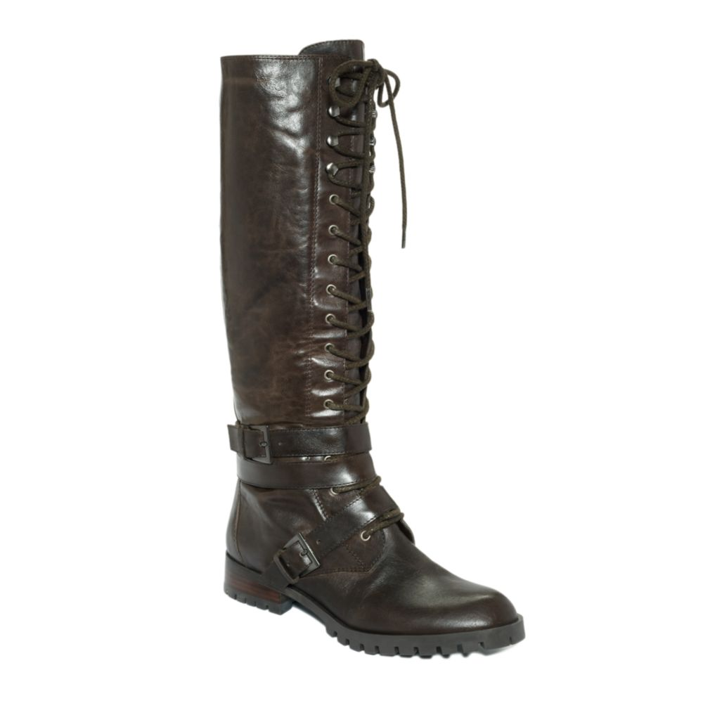 enzo angiolini seller lace up boots in black d brown