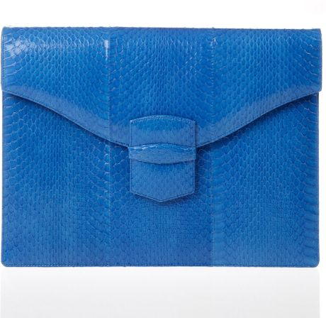 Oscar De La Renta Large Grafton in Blue (ocean) - Lyst