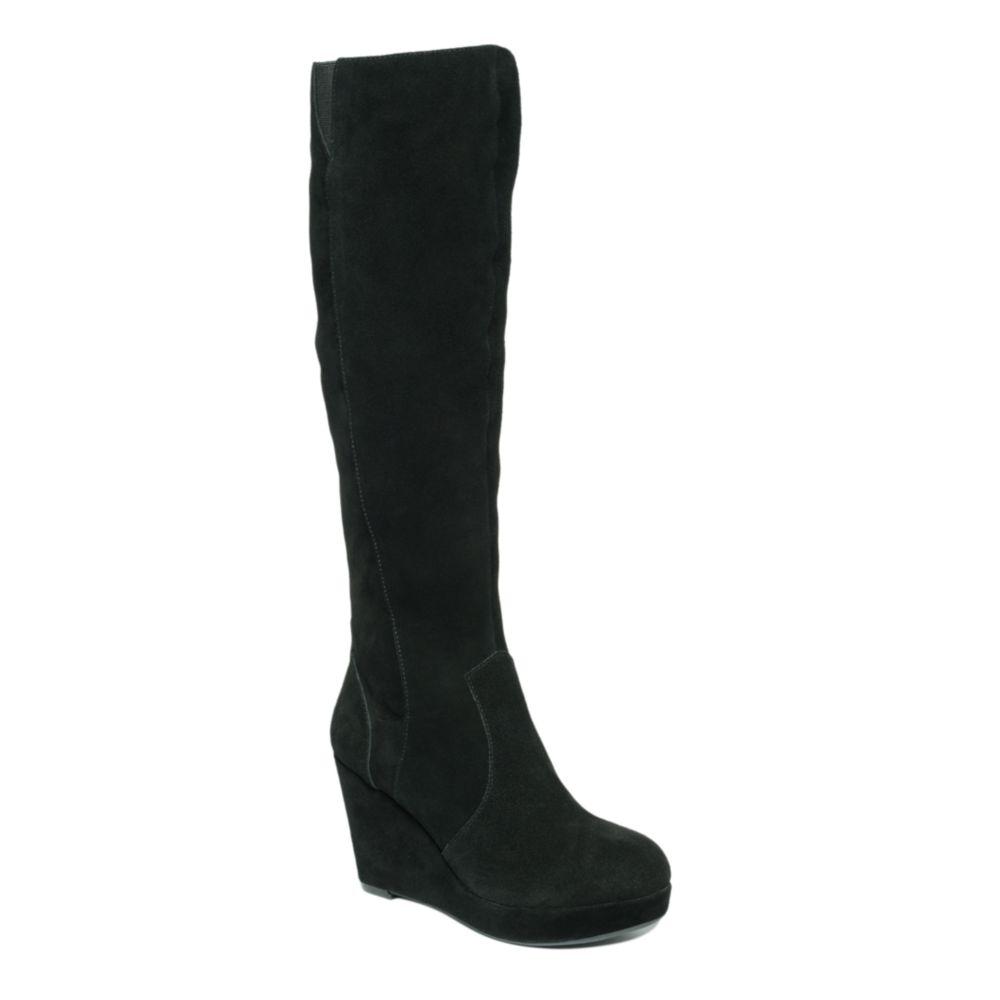 11da502b802 Lyst - Steve Madden Ashleey Wedge Boots in Black