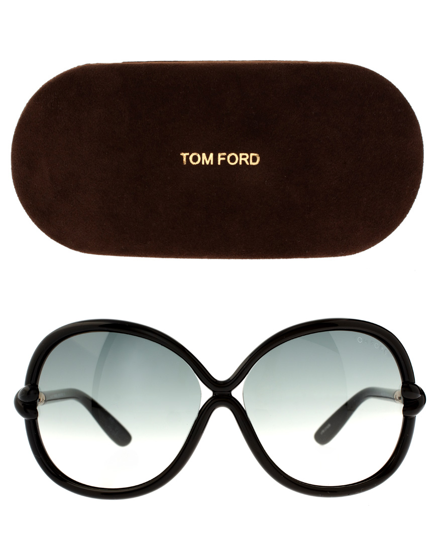 lyst tom ford shiny black sonja sunglasses in black. Black Bedroom Furniture Sets. Home Design Ideas