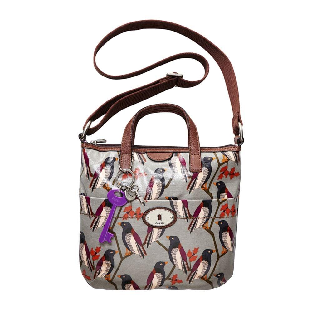 374846274 Fossil Vintage Keyper Coated Canvas Crossbody Bag in Brown - Lyst