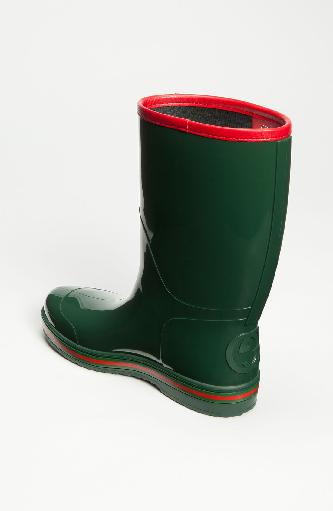 Gucci Rubber Rain Boot In Green For Men Lyst