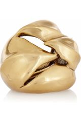 Oscar de la Renta 24karat Goldplated Ring
