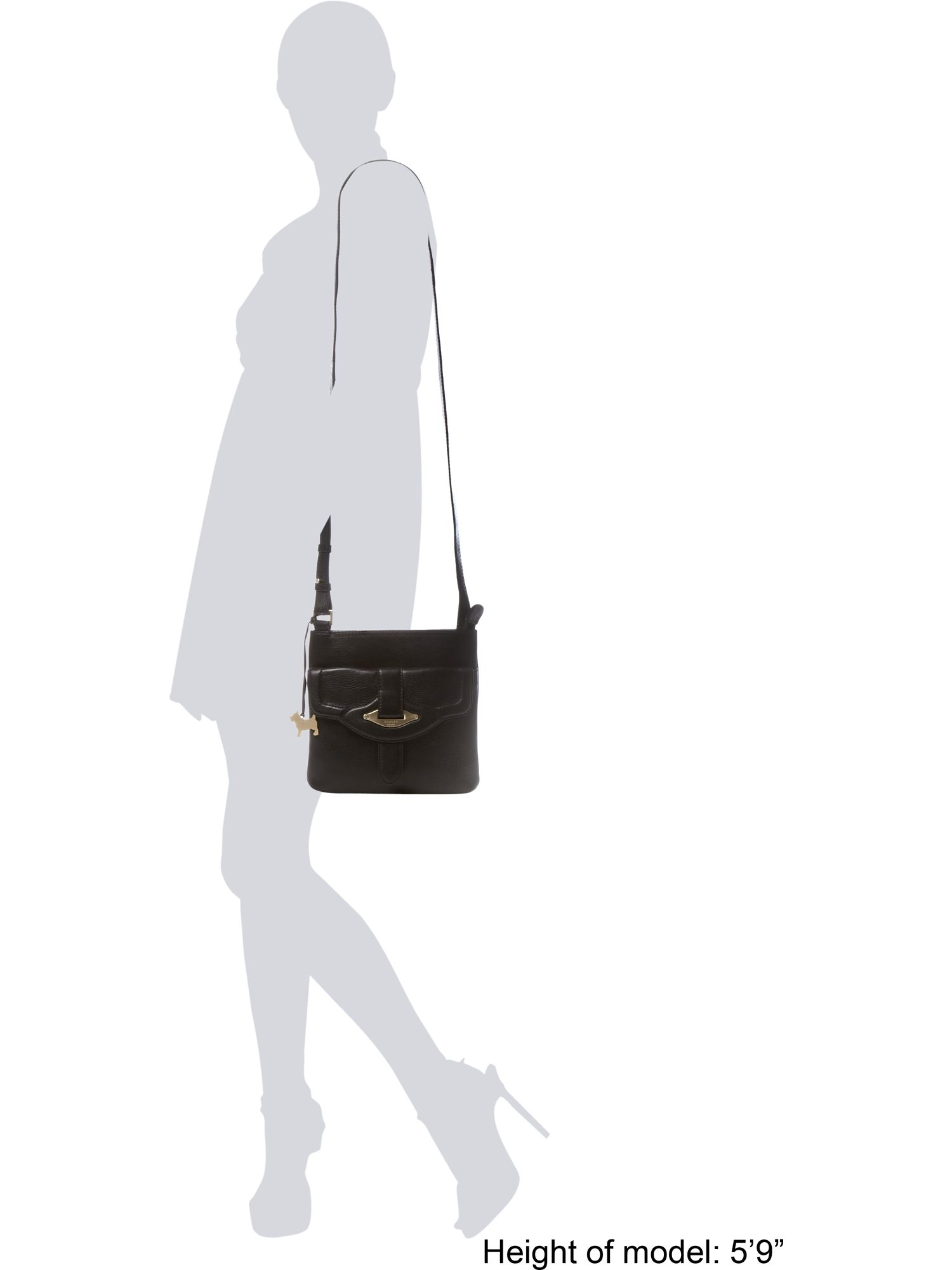 Radley Cheadle Medium Cross Body Bag in Black