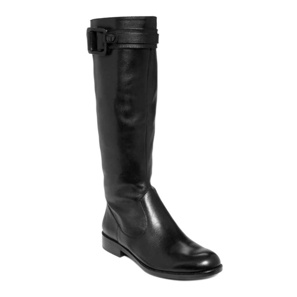 tahari bryant boots in black black leather lyst