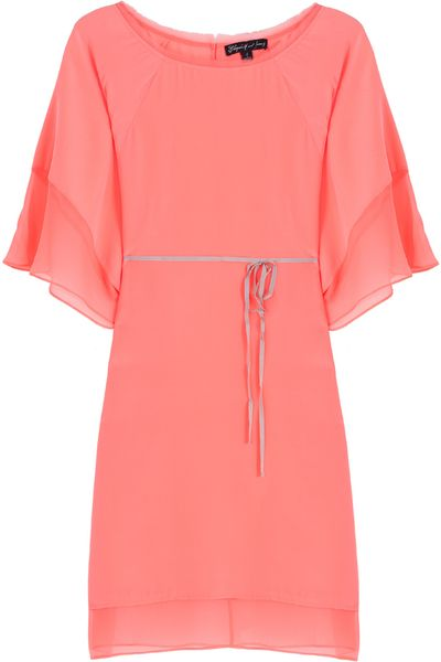 Elizabeth And James Tali Tie Front Kaftan Dress in Pink - Lyst