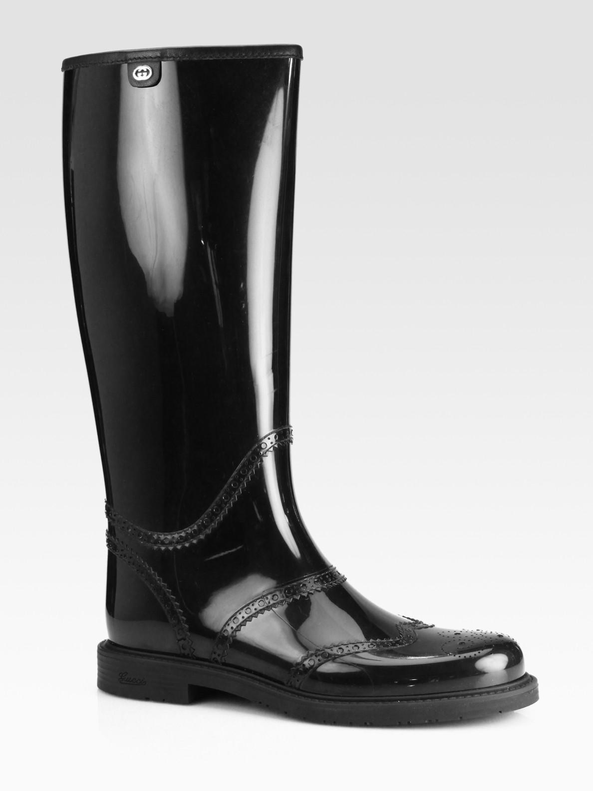 New Gucci Beige Rubber Logo Print Rainboots In Beige  Lyst