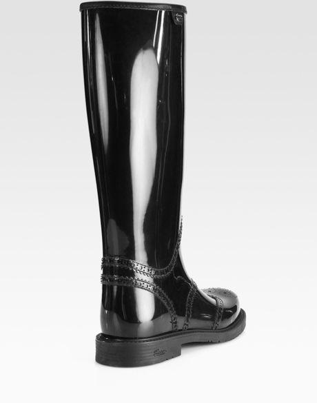 Beautiful Gucci Aberdeen Rain Boots In Black  Lyst